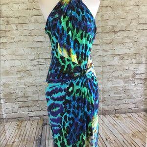 CASHE printed multi-color dress size M
